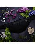 Сумка на пояс бананка Hoso MSH чорна, фото 7
