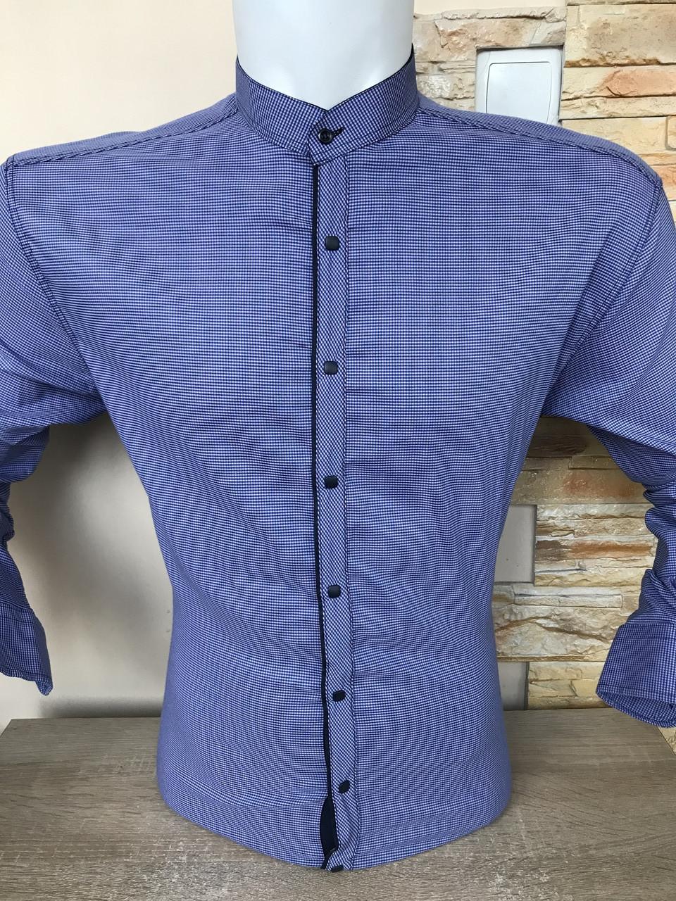 Рубашка батальная Paul Jack в клетку-стойка