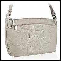 Шкіряна жіноча сумка бренд BETLEWSKI Польша світло-сірий, фото 1