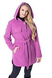 Класичне півпальта куртка з капюшоном фуксія