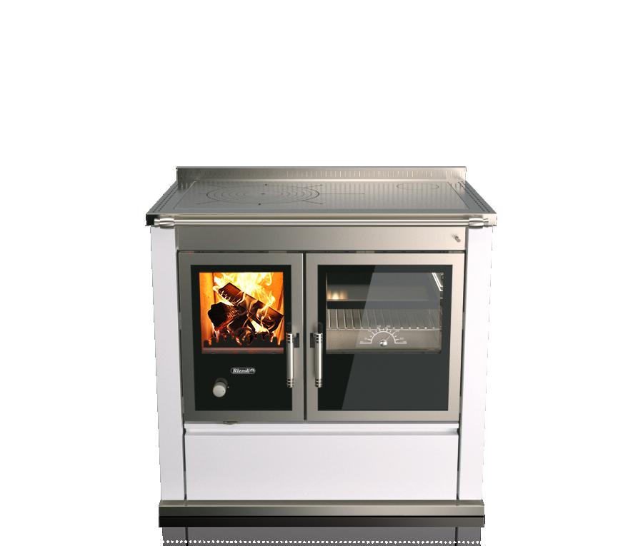 Печь камин с плитой и теплообменником Rizzoli ST 90
