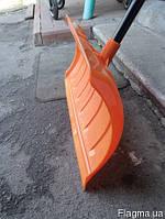 Лопата-плуг для уборки снега с металлическим черенком