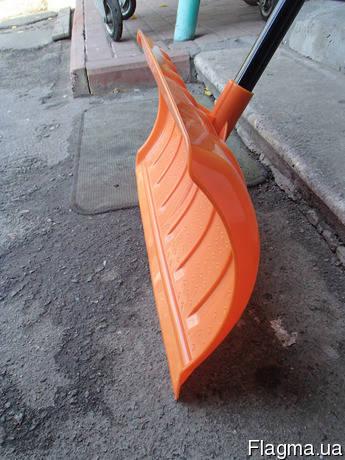 Лопата-плуг для уборки снега с металлическим черенком, фото 2