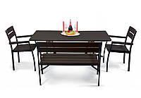"""Комплект меблів для саду """"Стелла"""" стіл (120*65) + 2 стільця + 2 лавки Венге, фото 1"""