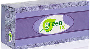 """Паперові двошарові серветки білі 100% целюлоза """"Green ix"""". 150 штук В упаковці"""