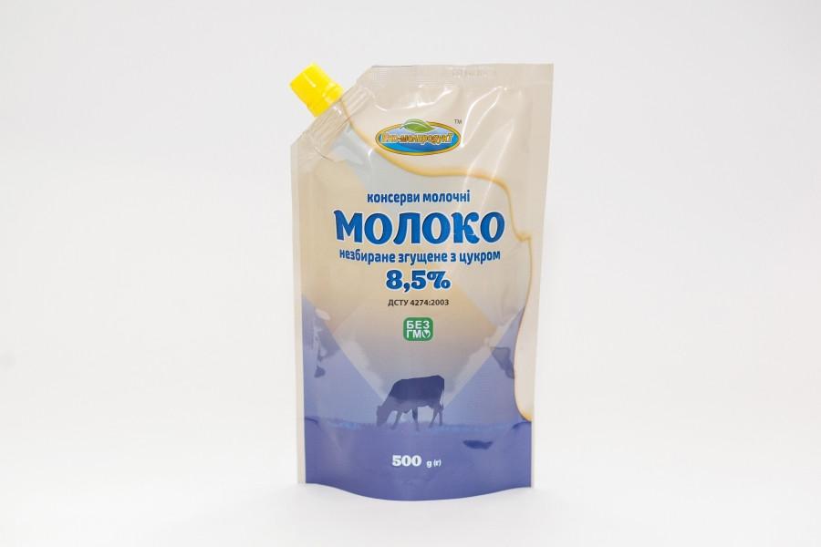 Молоко незбиране згущене з цукром 8,5%, 500 г ДСТУ ТМ Еко-молпродукт