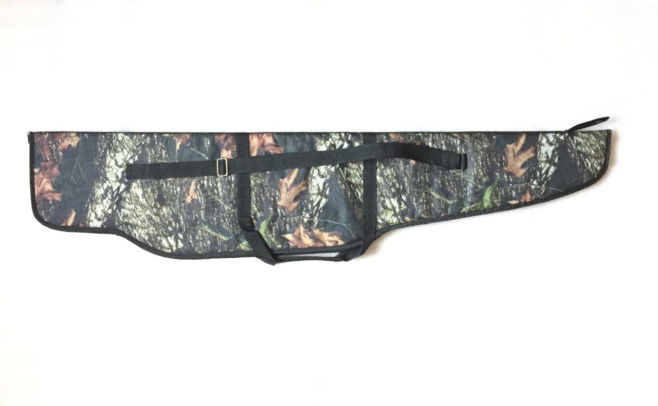 Чехол ружейный камуфлированный уплотнённый с оптикой 125 см.