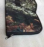 Чехол ружейный камуфлированный уплотнённый с оптикой 125 см., фото 6