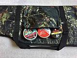 Чехол ружейный камуфлированный уплотнённый с оптикой 125 см., фото 5