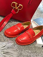 Модные кожаные лоферы Шанель 36,37,40р (реплика)