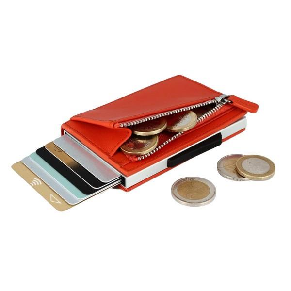 """Женский кожаный бумажник на молнии компактный и многофункциональный """"OGON Cascade"""""""