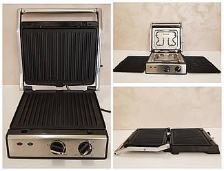 Гриль электрический Crownberg CB 1041 с функцией контроля температуры [2000 ВТ]  сьемная протвень