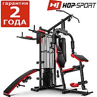 Силовая станция Hop-Sport HS-1054K фитнес танция, мультистанцыя, Для мышц груди, рук, ног, спины