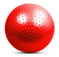 Мяч для фитнеса с массажными шипами красный Диаметр-65см