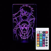 Светильник-ночник 3d с пультом 16 цветов Наруто 5 AVA-239
