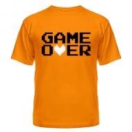 Футболка с надписью Game over 8 bit, популярная, молодёжная модель