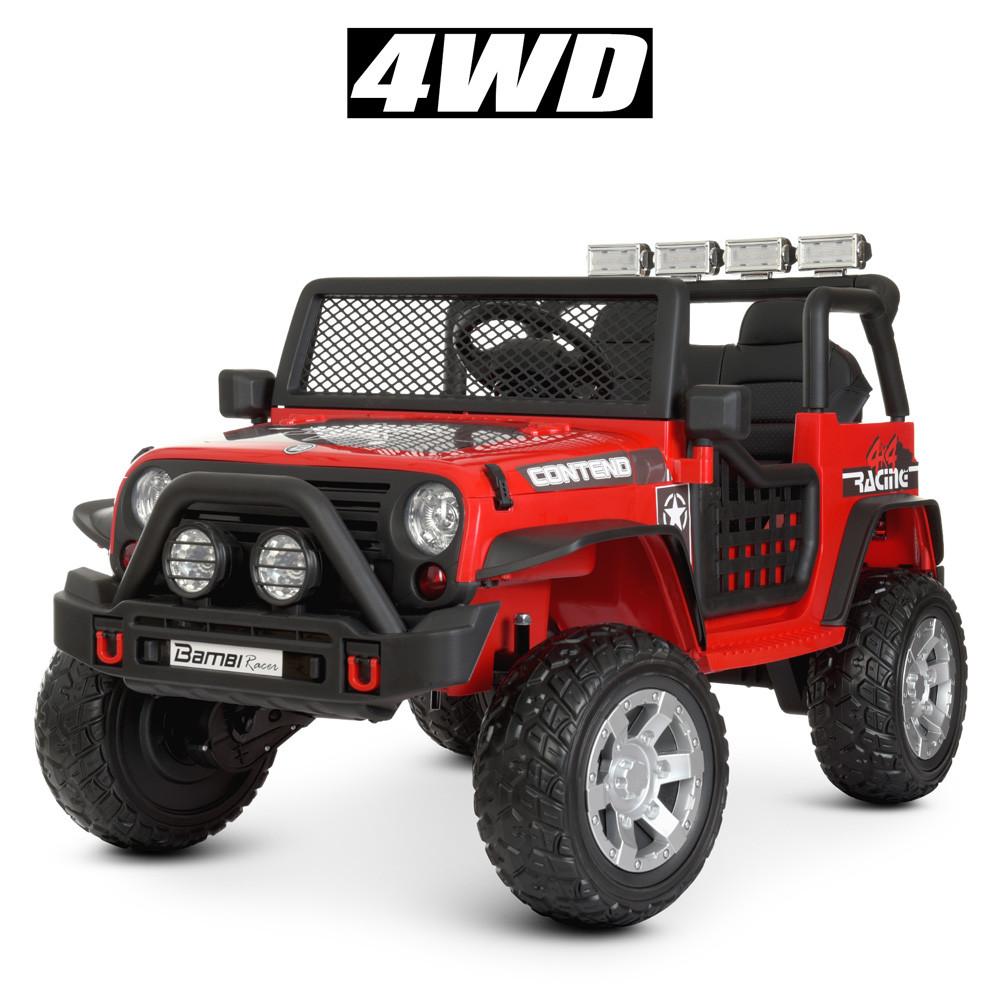 Детский джип Jeep Wrangler M 4297 Красный