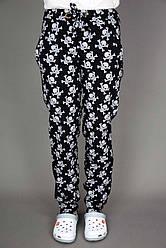 Поварские брюки Lux-Form Черепа, черные 102389