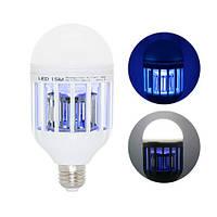 Лампа светодиодная ловушка для уничтожения комаров насекомых 15Вт, Е27, 105288
