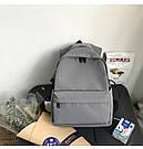 Рюкзаки для подростков водоотталкивающие серого цвета HOCODO., фото 3