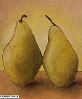 «Желтый натюрморт с грушами» картина маслом