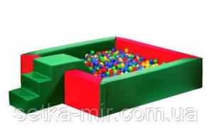 Сухой бассейн с горкой 150х40 см