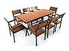 """Комплект меблів для літніх майданчиків """"Брістоль"""" стіл (180*80) + 8 стільців Твк"""