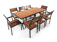 """Комплект меблів для літніх майданчиків """"Брістоль"""" стіл (180*80) + 8 стільців Твк, фото 1"""