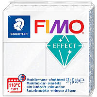 Пластика Fimo Effect 57г белая с блестками (4006608818029)