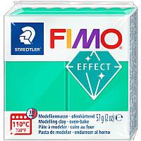 Пластика Fimo Effect 57г зеленая полупрозрачная (4006608810184)