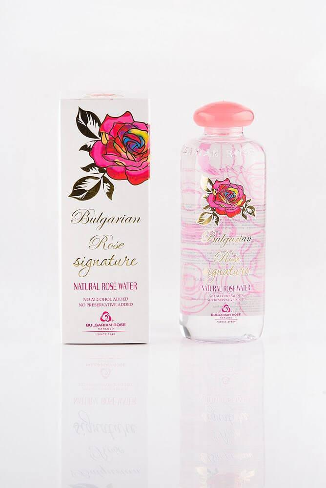 BULGARIAN ROSE SIGNATURE NATURAL ROSE WATER Натуральна рожева вода для обличчя