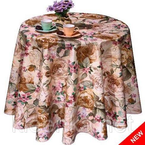 Клеенка Декорама розы на кухонный стол. Турция