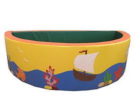 Сухой бассейн Полукруг с аппликацией 150х40 см