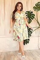 """Шикарное женское платье На Запах, ткань """"Софт"""" 48, 50, 52, 54, 56, 58 размер батал 48"""
