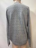 Чоловічий светр (великі розміри) весняний Туреччина сірий, фото 3