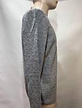 Чоловічий светр (великі розміри) весняний Туреччина сірий, фото 4