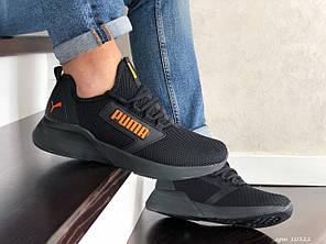 Мужские кроссовки Puma black/orange. [Размеры в наличии: 41,43,44,46]