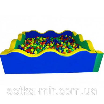 Сухой бассейн квадратный Волна 200х60 см