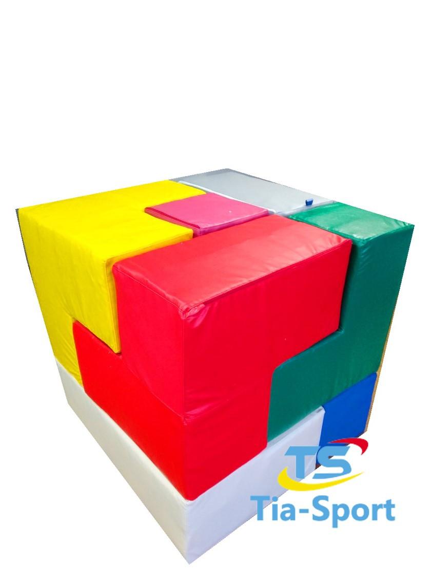 Мягкий конструктор Кубик Рубика, 7 эл.