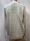 Мужской свитер (большие размеры) весенний Турция бежевый, фото 4