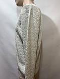 Мужской свитер (большие размеры) весенний Турция бежевый, фото 3