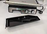 Електричний гриль прес Haeger 2800W притискної з таймером, фото 7