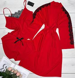 Комплекты халат+пижама ( хлопок,софт).
