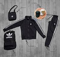 Спортивный костюм комплект мужской Adidas Черный