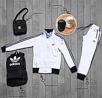 Спортивный костюм комплект мужской Adidas Белый