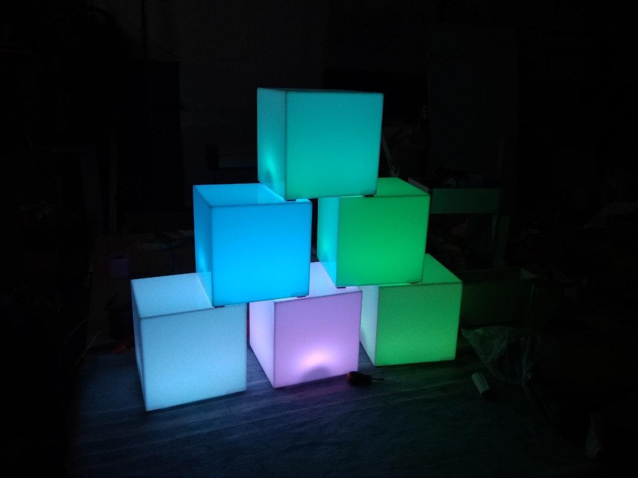 LED Світильник Куб 16 кольорів + режими
