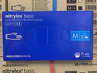 Перчатки нитриловые 100 штук размеры M Nitrylex basic