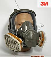 Полнолицевая маска 3М серии 6000, размеры 6800