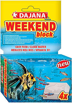 Кормовой блок для рыбок на 2-4 дня Dajana Weekend Block (15-20 рыбок)
