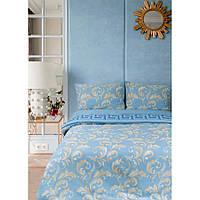 Постельное белье Lotus Ranforce - Sigma голубой двуспальное